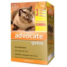 Combo Antipulgas Advocate Gatos Até 4Kg