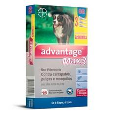 Combo Antipulgas e Carrapatos Advantage Max3 Caes Acima De 25Kg Bayer