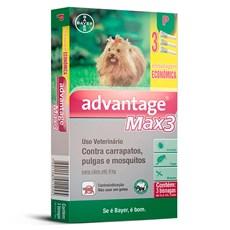 Combo Antipulgas e Carrapatos Advantage Max3 Caes Ate 4Kg Bayer
