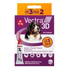 Combo Antipulgas e Carrapatos Vectra 3D Cães 40Kg a 67Kg