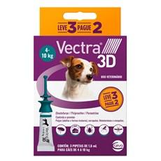 Combo Antipulgas e Carrapatos Vectra 3D Cães 4Kg a 10Kg
