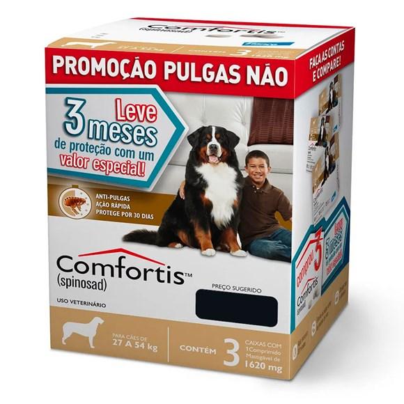 Combo Comfortis Antipulgas Cães 27 A 54Kg 1620mg C/3 Unidades