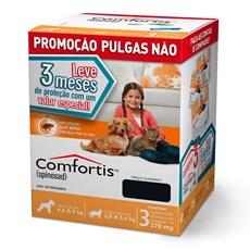 Combo Comfortis Antipulgas Cães E Gatos 270mg C/3 Unidades