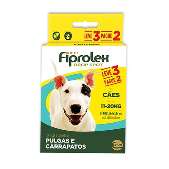Combo Fiprolex Antipulgas Caes 11 a 20Kg - Ceva