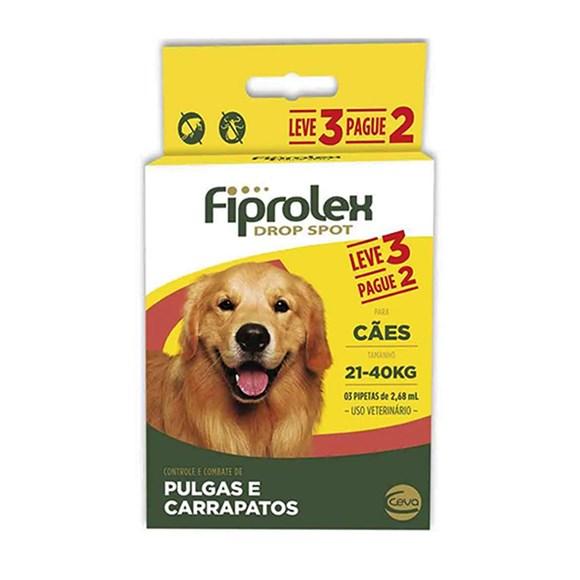 Combo Fiprolex Antipulgas Caes 21 a 40Kg - Ceva