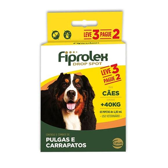 Combo Fiprolex Antipulgas Cães Acima de 40Kg - Ceva