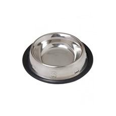 Comedouro / Bebedouro em Inox Base Antiderrapante para Pets 240ml