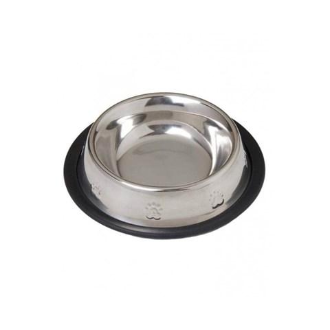 Comedouro / Bebedouro em Inox Base Antiderrapante para Pets 480ml
