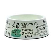 Comedouro / Bebedouro para Cães Gatos e Pets Happy Jambo Branco M