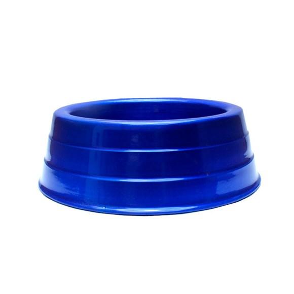 Comedouro Cães Dog Head Alumínio Pesado Colorido Azul Pequeno - 1000mL