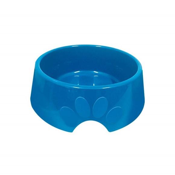 Comedouro Cães Furacão Pet Plástico Pop Azul - 1900mL
