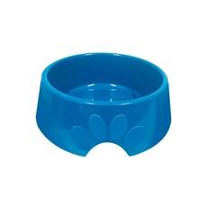 Comedouro Cães Furacão Pet Plástico Pop Azul - 600mL