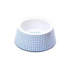 Comedouro Cães Jambo Plástico Vichy Azul 1