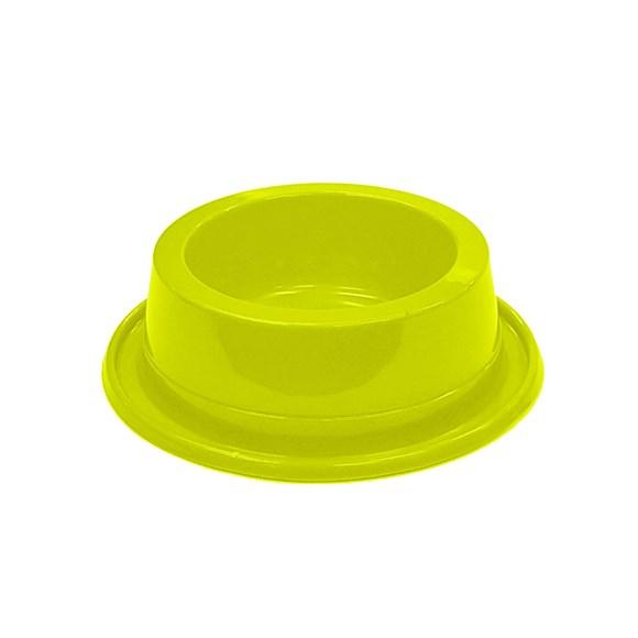 Comedouro Cães Pet Toys Filhote Antiformiga Amarelo Neon - 300mL