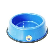 Comedouro e Bebedouro Pesado Cães Tudo Pet Azul - 2,5 Litros