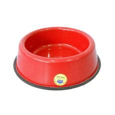 Comedouro e Bebedouro Pesado Cães Tudo Pet Vermelho - 2,5 Litros