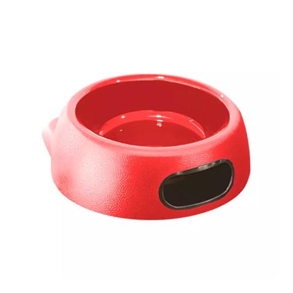 Comedouro Gatos Furacão Pet Plástico Super Glamour Vermelho - 550mL