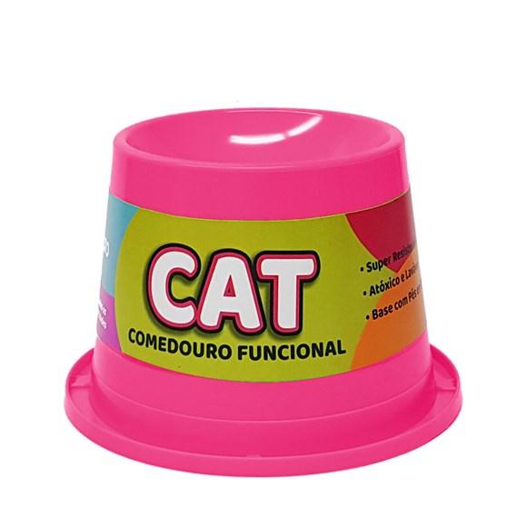 Comedouro Gatos Pet Toys Alto Antiformiga Rosa Neon - 250mL