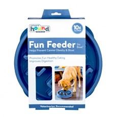 Comedouro Lento Mini Fun Feeder Para Caes Azul