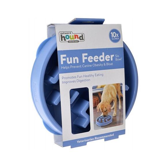 Comedouro Lento Para Cães Fun Feeder Tamanho G - Azul
