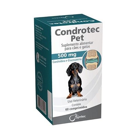 Condrotec Pet Suplemento Articulação para Cães e Gatos 500mg