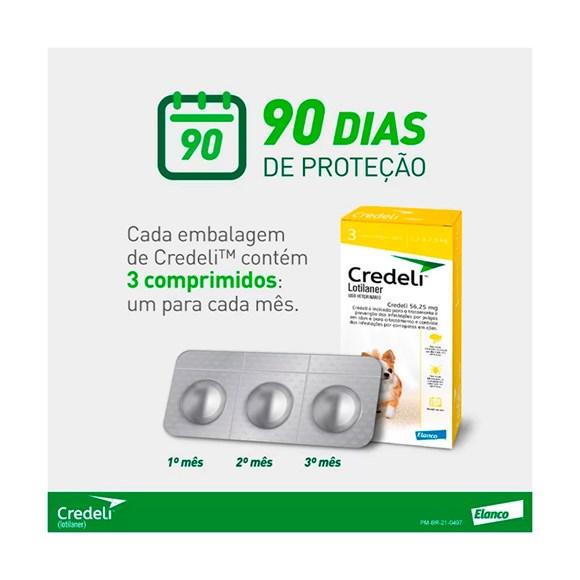Credeli Antipulgas e Carrapatos Caes 1,3 a 2,5kg c/3 Comprimidos