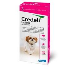Credeli Antipulgas e Carrapatos Cães 2,5 a 5,5kg c/3 Comprimidos