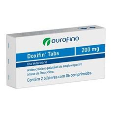 Doxifin Tabs Ourofino 200Mg C/ 12 Comprimidos