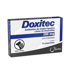 Doxitec Antibiotico para Caes e Gatos 200mg 16 Comprimidos
