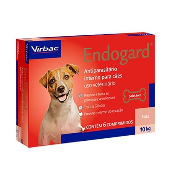 Endogard Vermifugo Caes Ate 10kg C/6 Comprimidos - Virbac