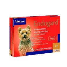 Endogard Vermifugo Caes Ate 2,5kg C/6 Comprimidos - Virbac