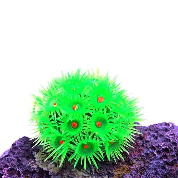 Enfeites de Silicone Coral Goniopora Verde Soma