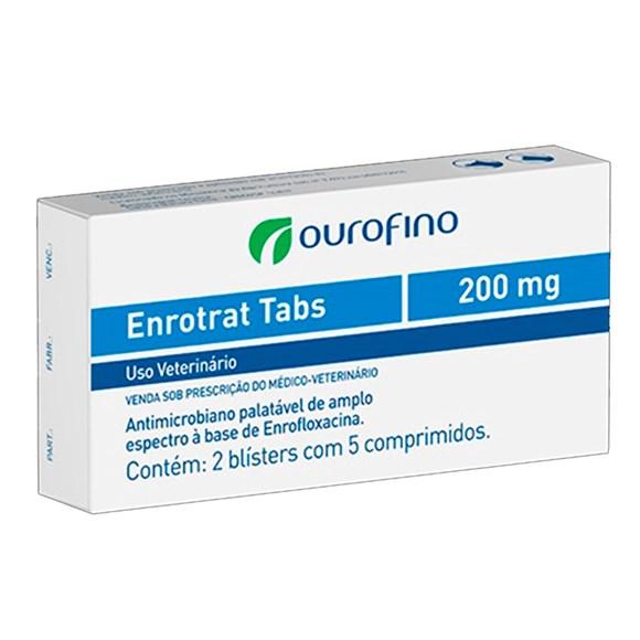Enrotrat Tabs Ourofino 200mg C/ 10 Comprimidos