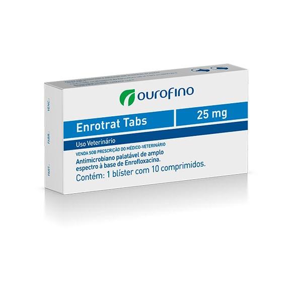 Enrotrat Tabs Ourofino 25mg c/ 10 comprimidos