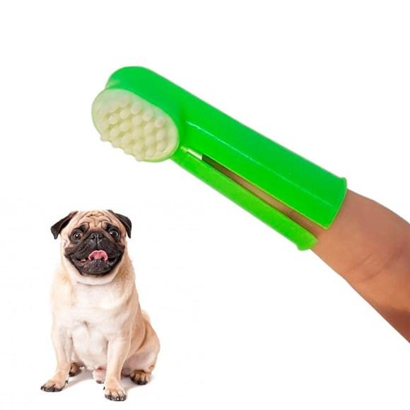 Escova de Dentes Dedal Para Cães e Gatos Napi