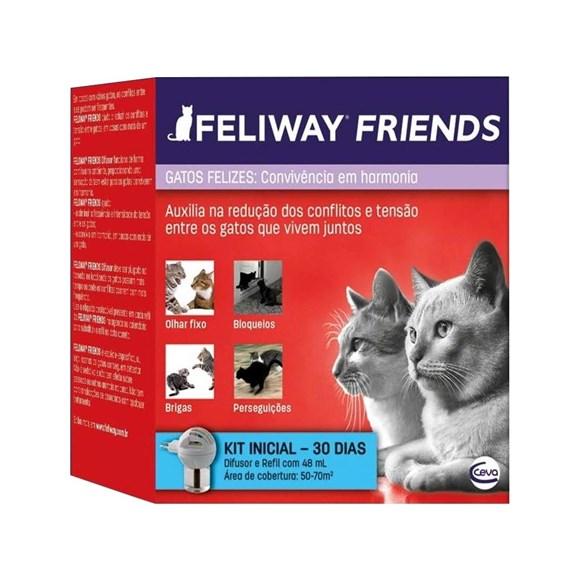 Feliway Friends Difusor + Refil 48ml Educador De Conflitos