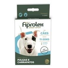 Fiprolex Drop Spot Antipulgas E Carrapatos Cães 11 A 20kg