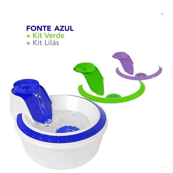 Fonte Bebedouro Colors Petlon Azul, Lilás e Verde – 110v