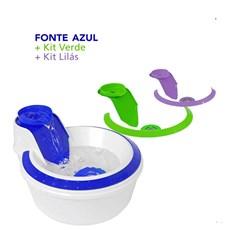 Fonte Bebedouro Colors Petlon Azul, Lilás e Verde – 220v