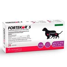 Fortekor 5 Tratamento Novartis Cães E Gatos 28 Comp
