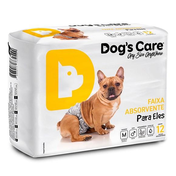 Fralda Higiênica M Para Macho Dogs Care C/12 Unidades