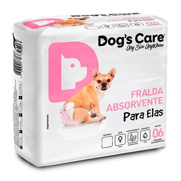 Fralda Higiênica P Para Fêmeas Dogs Care C/6 Unidades