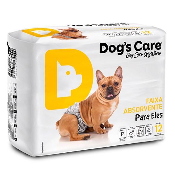 Fralda Higienica P Para Macho Dogs Care C/12 Unidades
