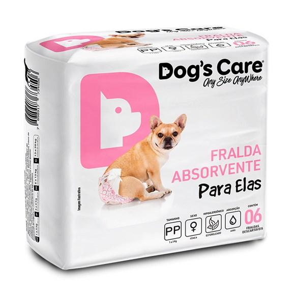 Fralda Higienica PP Para Femeas Dogs Care C/6 Unidades