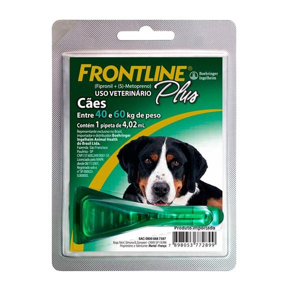 Frontline Plus Antipulgas E Carrapatos Cães 40 a 60Kg