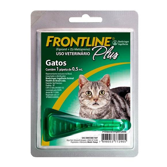 Frontline Plus Antipulgas E Carrapatos Gatos 0,5mL