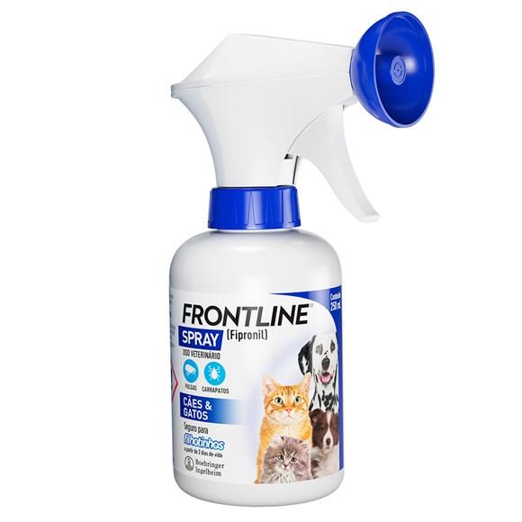 Frontline Spray Antipulgas e Carrapatos Cães e Gatos 250ML