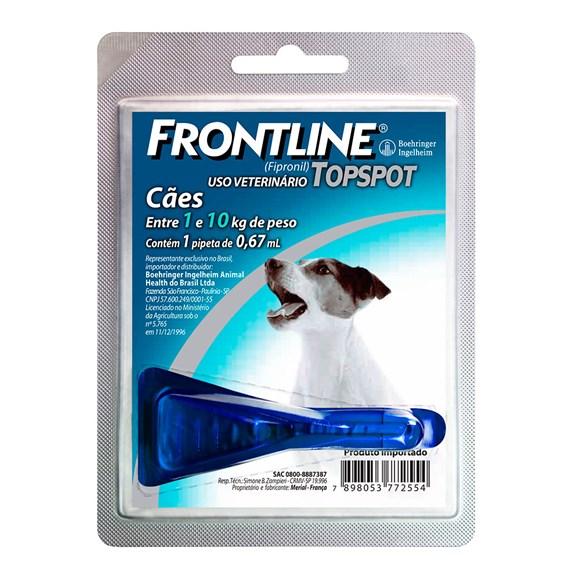Frontline TopSpot Antipulgas E Carrapatos Cães 1 a 10kg