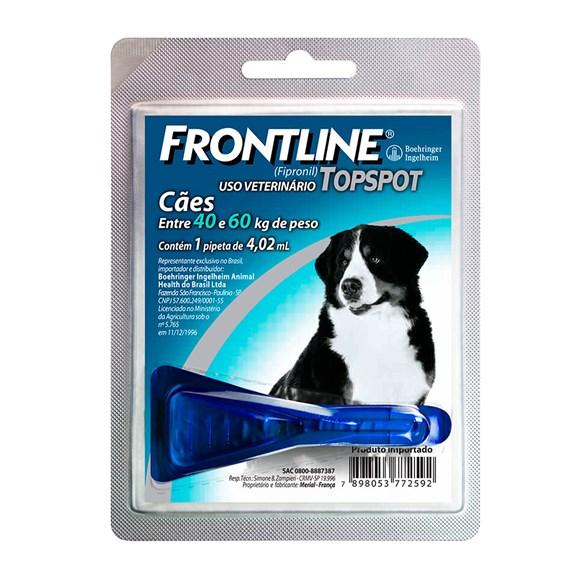 Frontline TopSpot Antipulgas E Carrapatos Cães 40 a 60Kg