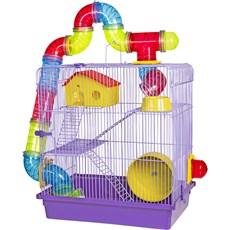 Gaiola 3 Andares Para Hamster Lilás Jel Plast